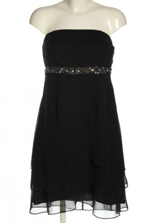 Marie Blanc Volantkleid schwarz Elegant