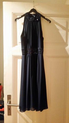 Marie Lund Vestido de lentejuelas azul oscuro