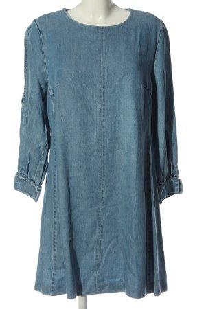 Marie Lund Copenhagen Jeansowa sukienka niebieski Lyocell