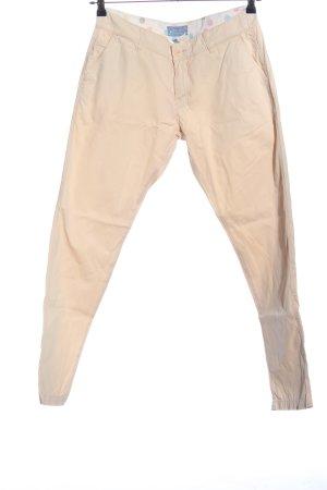 Marie Lund Pantalon cinq poches crème style décontracté