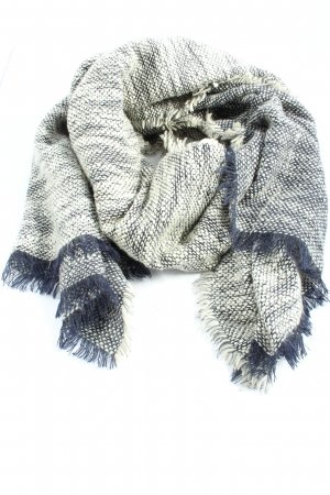 Marie Lund Fringed Scarf white-blue flecked casual look