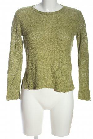 Marie Lund Crochet Sweater khaki flecked casual look
