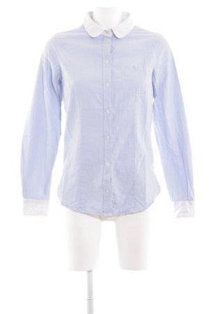 Marie Lund Hemd-Bluse blau-weiß Business-Look