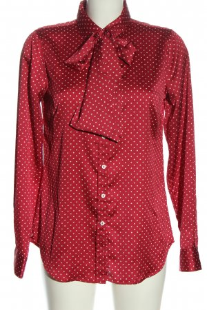 Marie Lund Hemd-Bluse rot-weiß Punktemuster Casual-Look