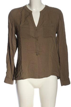 Marie Lund Camicia blusa marrone stile professionale