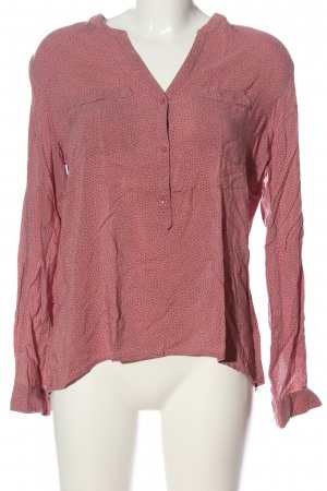 Marie Lund Hemd-Bluse pink-braun Punktemuster Casual-Look
