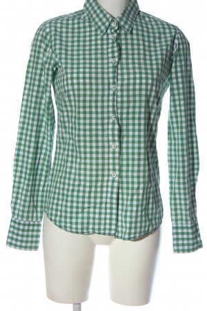 Marie Lund Holzfällerhemd grün-weiß Allover-Druck Casual-Look