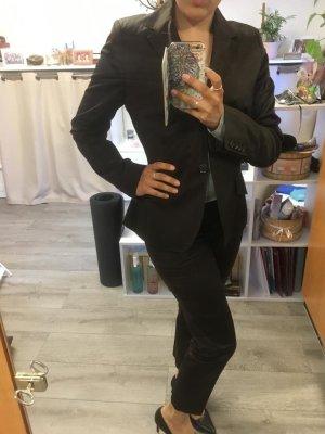 Marie Lund Tailleur pantalone marrone-nero
