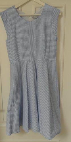 Marie Lund Kleid, hellblau/weiss gestreift. Gr. 40, mit Taschen, blickdicht, Neuwertig