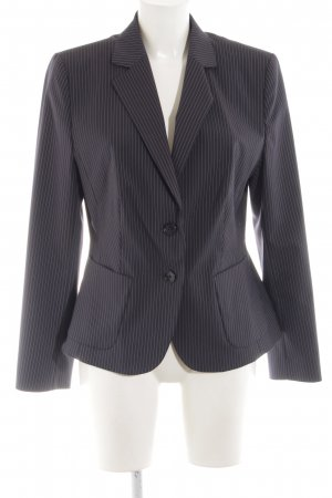 Marie Lund Korte blazer zwart gestreept patroon zakelijke stijl