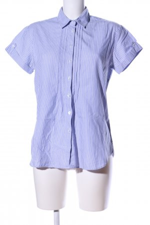 Marie Lund Kurzarmhemd blau-weiß Streifenmuster Business-Look