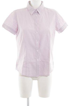 Marie Lund Kurzarmhemd pink-weiß Streifenmuster Business-Look