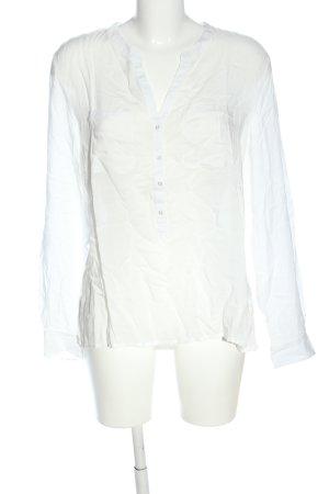 Marie Lund Camicetta a maniche lunghe bianco stile casual