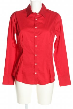 Marie Lund Langarm-Bluse rot Business-Look