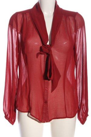 Marie Lund Langarm-Bluse rot Elegant
