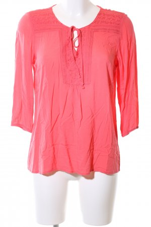 Marie Lund Langarm-Bluse rot Casual-Look