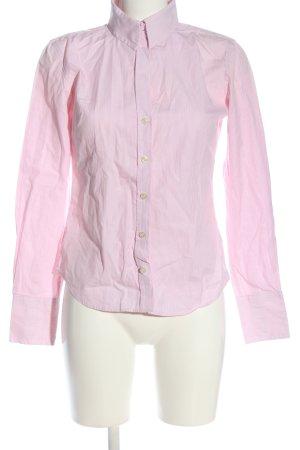 Marie Lund Camicia a maniche lunghe rosa-bianco motivo a righe
