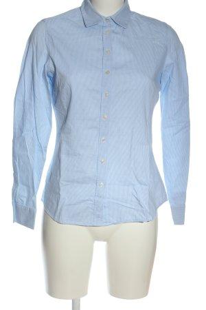 Marie Lund Camicia a maniche lunghe blu-bianco motivo a righe