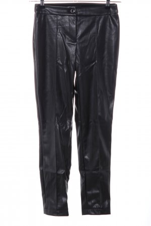 Marie Lund Pantalon en cuir noir style extravagant
