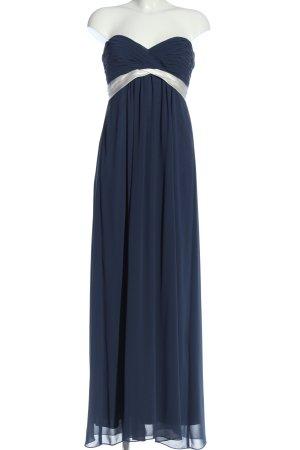 Marie Lund Maxikleid blau-weiß Elegant