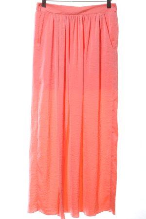 Marie Lund Maxi gonna arancione chiaro stile casual