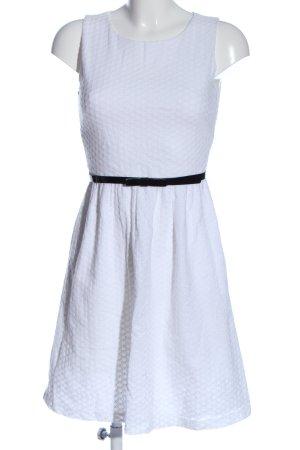 Marie Lund Minikleid weiß-schwarz Allover-Druck Casual-Look