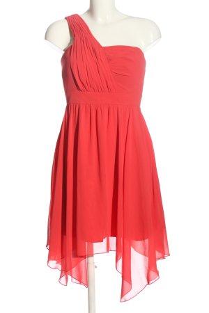 Marie Lund Vestido de un hombro rojo elegante