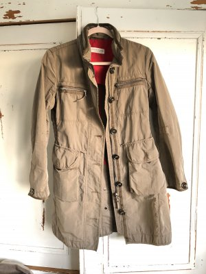 Marie Lund Parka grey brown-beige