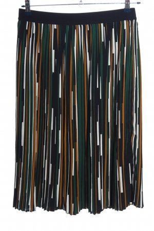 Marie Lund Pleated Skirt striped pattern casual look