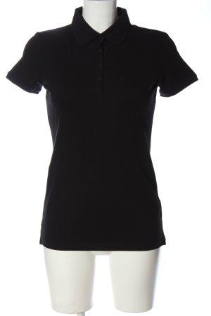 Marie Lund Polo shirt zwart casual uitstraling