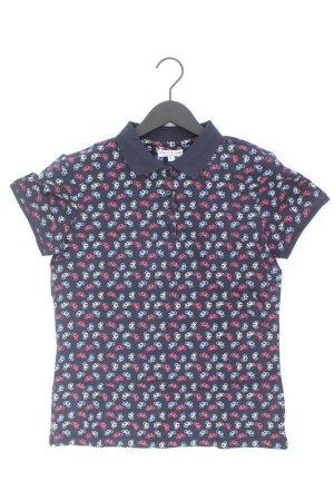 Marie Lund Poloshirt mit Fahrrad-Muster Größe L blau aus Baumwolle