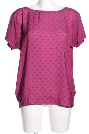 Marie Lund Print-Shirt pink-schwarz Punktemuster Casual-Look