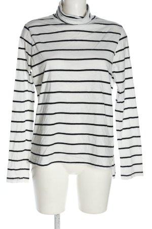 Marie Lund Rollkragenpullover weiß-schwarz Streifenmuster Casual-Look