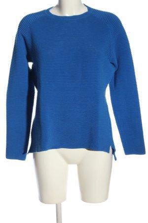 Marie Lund Rundhalspullover blau Streifenmuster Casual-Look