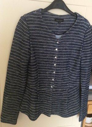 Marie Lund Cardigan in maglia blu-bianco sporco Cotone