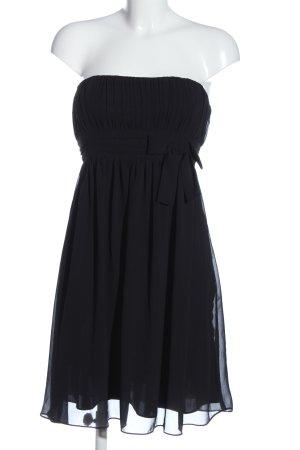 Marie Lund schulterfreies Kleid schwarz Casual-Look