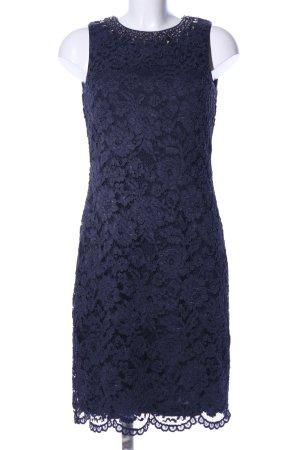Marie Lund Spitzenkleid blau Blumenmuster Elegant