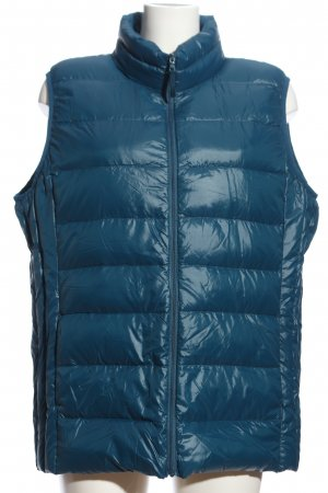Marie Lund Quilted Gilet blue quilting pattern casual look