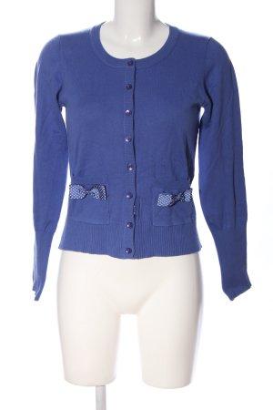 Marie Lund Cardigan in maglia blu stile casual