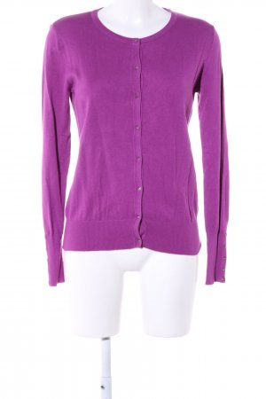 Marie Lund Strick Cardigan lila Business-Look