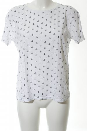 Marie Lund T-Shirt weiß-schwarz Allover-Druck Casual-Look