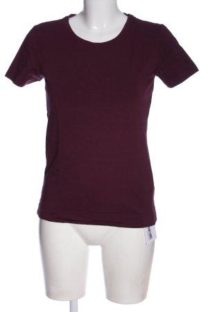 Marie Lund T-shirt lilla stile casual