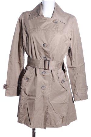 Marie Lund Trenchcoat hellgrau Business-Look