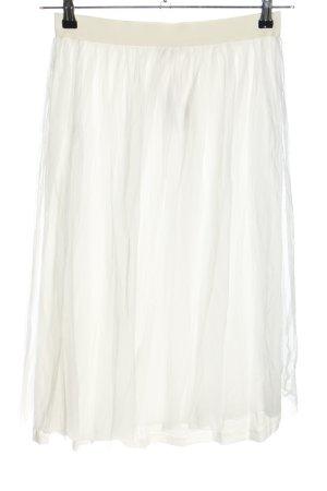Marie Lund Jupe en tulle blanc Motif de tissage élégant