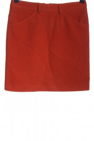 Marie Lund Wool Skirt red casual look