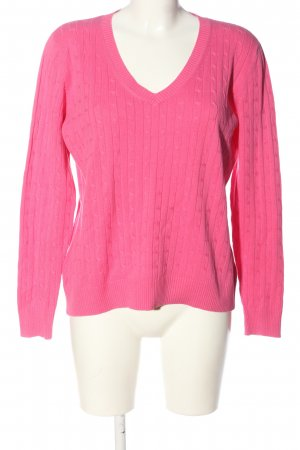 Marie Lund Maglione intrecciato rosa punto treccia stile casual