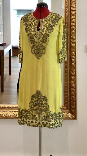 Marie Mariée Vestido playero amarillo-ocre poliamida