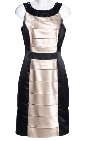 Marie Noir Etuikleid schwarz-goldfarben Elegant