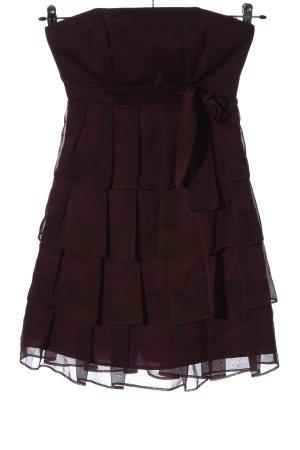 Marie Noir schulterfreies Kleid rot Elegant
