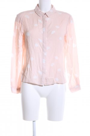 Marie Sixtine Langarm-Bluse pink-weiß Allover-Druck Casual-Look